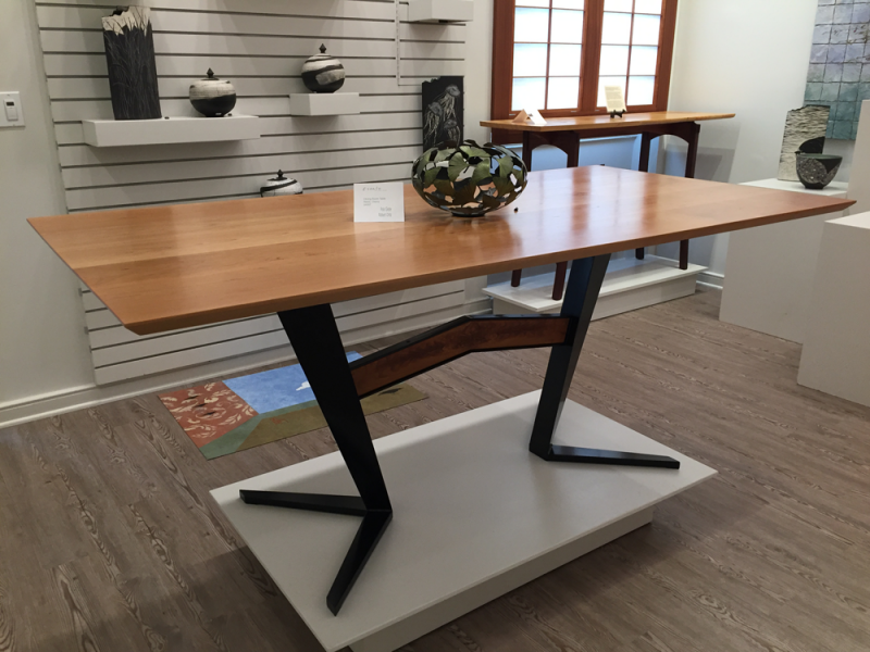 Custom Glebe/ Ortiz collaborative Table Walnut/ Stainless