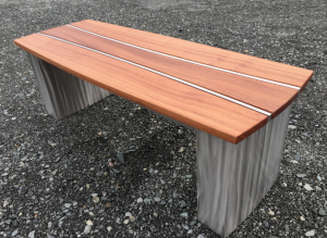 Garden Bench Stainless/Sepele Wood