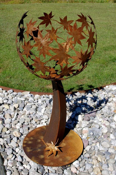 corten japanese maple sculpture